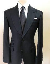 Black classic 2 button Cerruti wool suit