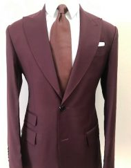 burgundy nobility wool suit