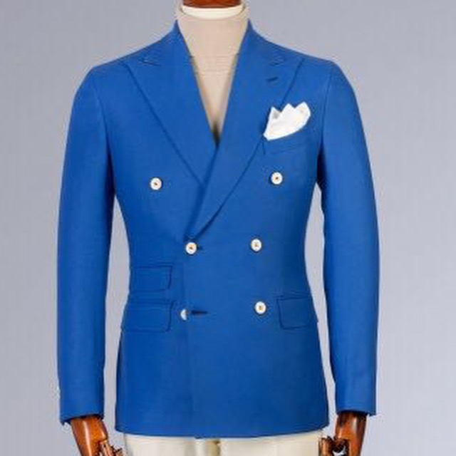 Blue double breasted Cerrutti wool suit.