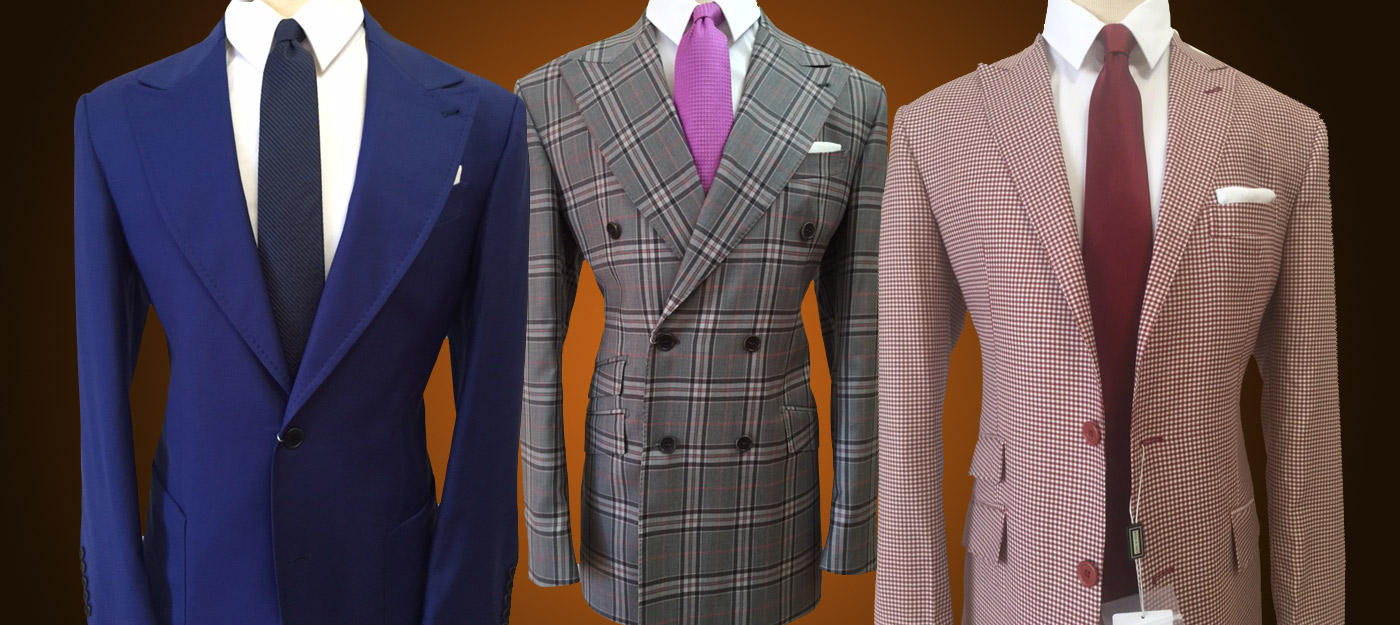 Brown Houndstooth Wool Suit